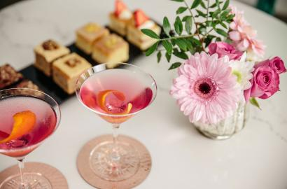 Cocktails and nibbles